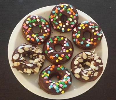 Chocolate Donuts with Chocolate Glaze
