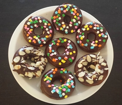 Chocolate Donuts with Chocolate Glaze
